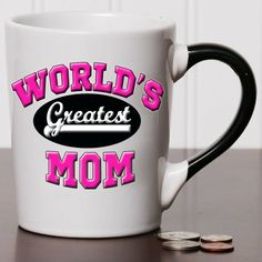 Worlds Greatest Mom 20 Oz Ceramic Family Mug By Tumbleweed -- Details can be found by clicking on the image.
