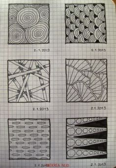 22 Patterns drawn by Miekrea NL - designed by Others