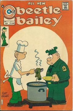 Beetle Bailey Comic Books For Sale, Vintage Comic Books, Vintage Cartoon, Vintage Comics, Beetle Bailey Comic, Newspaper Cartoons, War Comics, Favorite Cartoon Character, Old Tv