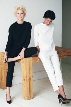 outfit blanc noir, bien s'habiller femme selon les tendanes de la mode