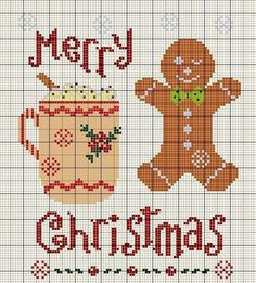 """Cute heart things: Christmas embroidery: """"Gingerbread"""" (selection)"""