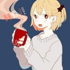pixiv art, anime, haikyuu!!, hitoka yachi, anime girl