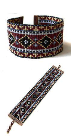 Colores beadwoven joyería abalorios estilo étnico por Anabel27shop