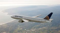 This file photos shows a United Airlines Boeing 777.