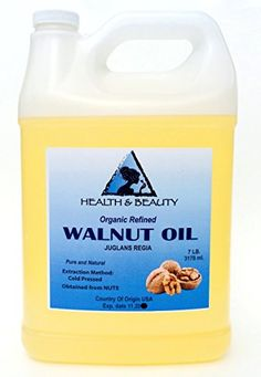 Walnut Oil Organic Carrier Natural Cold Pressed 100 Pure 128 oz 7 LB 1 gal ** This is an Amazon Affiliate link. Check out the image by visiting the link.