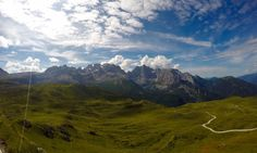 Landscape view of Italian Dolomites and Brenta Range in Italy