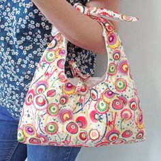 c863961d7b0 A stylish fabric Liberty Knot Bag - made from beautiful fabric from a  simple pattern.