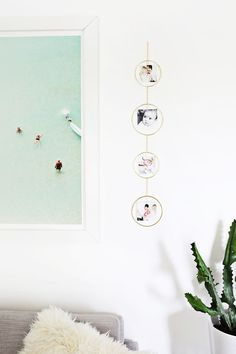 Gold hoop photo holder DIY—Working with @CanonUSA #CraftywithCanon #sponsored