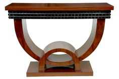 Art+Deco+Furniture | Photo of Walnut Art Deco Console Table Hall Tables Vintage Furniture