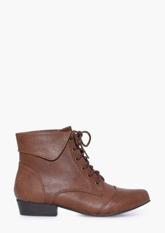 Indy Lace Up Booties in Tan | Necessary Clothing