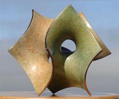 """Carlo H. Séquin  """"Cube-Volution-5"""" (June 2009) - Bronze, 2 patinas,  6"""" x 6"""" x…"""