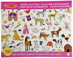 Melissa & Doug Sticker Collection Book: Princesses, Tea Party, Animals, and More - Stickers Craft Stickers, Cute Stickers, Presents For Kids, Kids Gifts, Melissa & Doug, Color Rosa, Book Design, Tea Party, Book Art
