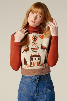 Holiday In Budapest 70's Sweater Vest – Stoned Immaculate Clothing