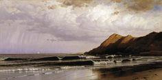 Alfred Thompson Bricher (American, 1837–1908) Time and Tide, circa 1873. Oil on canvas, 25.2 x 50 in (64 x 127 cm). Dallas Museum of Art, Dallas, Texas.