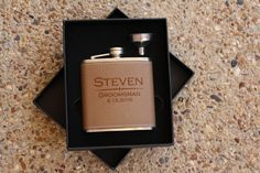 Our Personalized Engraved Flask Sets Make Great Gifts for Your Groomsmen, Father of the Bride and Groom, Ushers, Birthday Guy, Fathers Day,