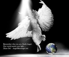 An angel floats down from the heavens while looking at Earth. Healing Affirmations, Angel Readings, Angel Quotes, Remember Who You Are, Angel Pictures, Guardian Angels, Angels And Demons, Mystic, Religion