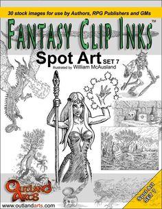 Fantasy Clip Inks:: Spot Art Set 7 - Outland Arts | RPGNow.com