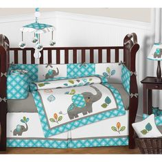 You'll love the Mod Elephant 9 Piece Crib Bedding Set at Wayfair - Great Deals on all Baby & Kids  products with Free Shipping on most stuff, even the big stuff.
