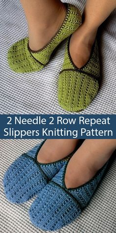 Knitting Pattern for Slippers Knit Flat on 2 Needles – Slippers knit on 2 needles in a 2 row repeat broken rib stitch and seamed. Designed by Julia Noskova who allows you to sell the finished slippers. Knitting Socks, Knitting Stitches, Knitting Patterns Free, Knit Patterns, Free Knitting, Circular Knitting Needles, Knitted Booties, Knitted Slippers, Knit Slippers Free Pattern