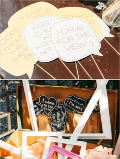 speech bubbles and photobooth props @CUTandPASTE-lab  - wedding in Italy - lake como wedding - photobooth props