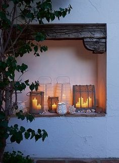 Beautiful lantern display, great for Candle Impressions outdoor candles