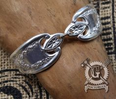 Old Colony 1911 Pattern Spoon Bracelet - Adjustable - Handmade by Doctorgus from Recycled Vintage Silverware - Repurposed Upcycled Jewelry