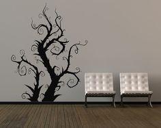 Burtonesque Tree, Swirls, Vines - Decal, Vinyl, Sticker, Home, Office, Kids, Holiday, Bedroom Decor via Etsy