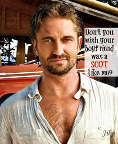 gerard butler greetings for@durinheir  LOL