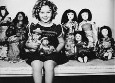 Shirley Temple with her Japanese Dolls