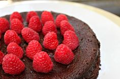Paleo chocolate torte with beets