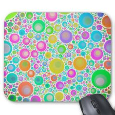 Pink Abstract Flower Garden Mousepads