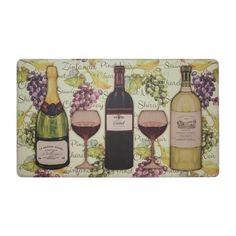 Wine Tasting 18 in. x 30 in. Extra Thick Premium Foam Comfort Kitchen Mat, Multi