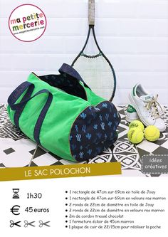 Découvrez comment fabriquer un sac de voyage grand, pratique et joli ! Ma Petit… Discover how to make a big, practical and pretty travel bag! My Petite Mercerie, offers you to make a bag of sport easy and fast! Coin Couture, Couture Sewing, Sac Week End, Bags 2017, Bag Patterns To Sew, Duffle Bag Patterns, Sewing Hacks, Sewing Projects, Bag Making