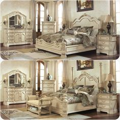 cordoba blanco king bedroom set. rich old world beauty of serpentine flowing curves and elaborately molded ornate detailing all bathed in cordoba blanco king bedroom set