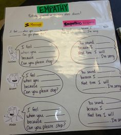 Empathy Lesson: Using I statements