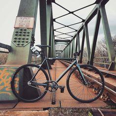 "#Repost from cyclist @tipfixed - ""@ontheroad.azs @8barbikes Track Bike #8bar #ontheroad #trackbike #fixedgear #azsphotography #fhain #fixieporn #bikeporn #fixie #fixed #cinelli #sram #sramomnium #hplusson #archetype #italia #selleitalia #train..."