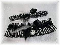 Jack Skellington The Nightmare Before Christmas Wedding Bridal Garter Set