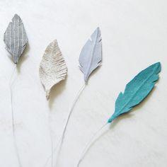 Créer des plumes en tissus ou en papier