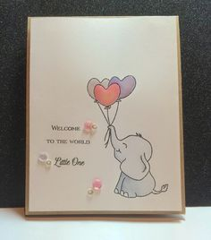 Card Design by Tonya using Sweet Stamp Shop Elephant Hearts