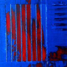 JLMoraisArq, Abstrata, oil on paper 8x8 cm, catálogo: AbstOilPap31317MartiusXVII. estratigráfica: camadas de tinta sobrepostas, aplicadas em bandas verticais e horizontais, esfregadas, borradas e raspadas; acabamento da superfície: textura predominante lisa, com estrias. Instrumento: espátula.