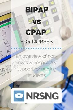 BiPAP vs CPAP | An overview of Non Invasive Respiratory Support for Nursing Students| Nursing School Tips | NRSNG.com