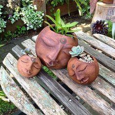 All planted up.....happy babies!! #creativeart #ceramics #pottery #handmade #firedup #studiolife #potteryclass #succulents #gardenart #earthfirewaterair #elements #arttherapy #gardening #serenity #meditation #yarravalleyopenstudios #awaywithclay #workshop