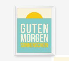 Guten Morgen Sonnenschein German Good Morning Sunshine by loopzart