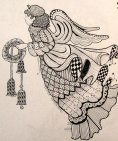 LeeAnn's Zentangle-ing Fun - Christmas Gallery Angel
