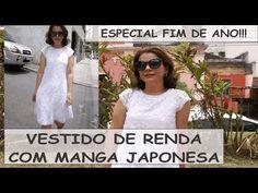 VESTIDO DE RENDA COM MANGA JAPONESA COM CÉLIA ÁVILA