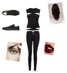 """""""concert date"""" by internationalbaby ❤ liked on Polyvore featuring BCBGMAXAZRIA, Paige Denim, Converse, WigYouUp and Charlotte Tilbury"""