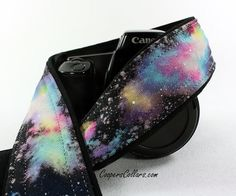 Galaxy  No.300 Camera Strap Hand painted One of by CoopersCollars, $39.00