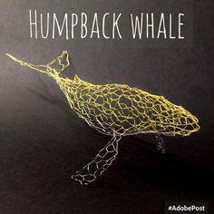 ザトウクジラ Humpback whale 針金細工 wire work
