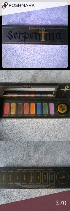 Kat Von D Serpentina palette Barely used, like new. This was limited edition and is no longer sold in stores and online. Kat Von D Makeup Eyeshadow