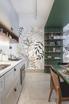 Professional photographer - Porto, Portugal: kitchen by alessandro guimaraes p .- Fotógrafo profissional – porto, portugal: cozinhas por alessandro guimaraes p… Professional photographer – porto, portugal: kitchens … - Küchen Design, House Design, Flat Design, Sweet Home, Scandinavian Kitchen, Home Accents, Wall Accents, Green Accents, Cheap Home Decor